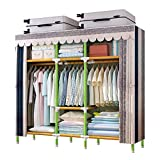 YOUUD 68 Inches Wardrobe Storage Closet Portable Closet Shelves, Closet Stroage Organizer with Polyester Oxford Fabric, Quick and Easy to Assemble, Extra Strong and Durable