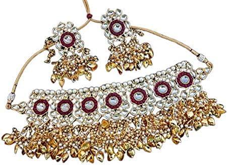 Vihan Latest Bridal Wedding Traditional Beaded Necklace Earring Jewelry Set NZ