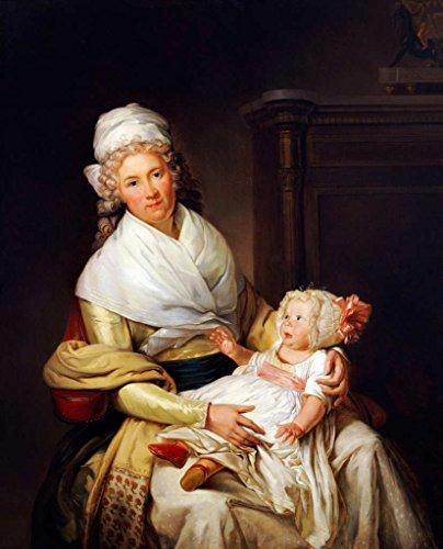Kunst für Alle Impresión artística/Póster: Henri-Pierre Danloux Bildnis Von Constantia Foster mi