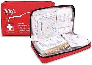 HilphErste Hilfe Kit Artikel, rote halbstarre Mini Box wasserdichte medizinische Notfalltasche Bestehend aus 39 Artikeln mit sofortigen Kühlpackungen