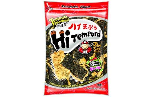 Hi Tempura (Tempura Seaweed Spicy Flavor) - 1.41oz (Pack of 6)