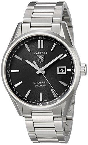 TAG Heuer WAR211A.BA0782 - Reloj para Hombres, Correa de Acero Inoxidable Color Plateado