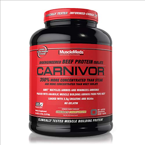 MuscleMeds Chocolate Peanut Butter Carnivor Protein Supplement, 2016 g
