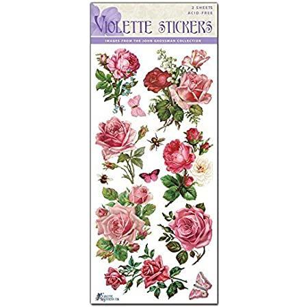 Yellow and Pink Violette Stickers Lemonade Roses