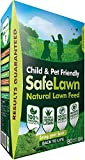 CUQOO Natural Lawn Feed In 2.8 Kg – Child & Pet Safe Grass Fertiliser For Greener & Thicker Grass – Lawn Fertiliser Grass Feed For Spring, Summer, Autumn & Winter – Healthy Grass Lawn Food (1 pack)