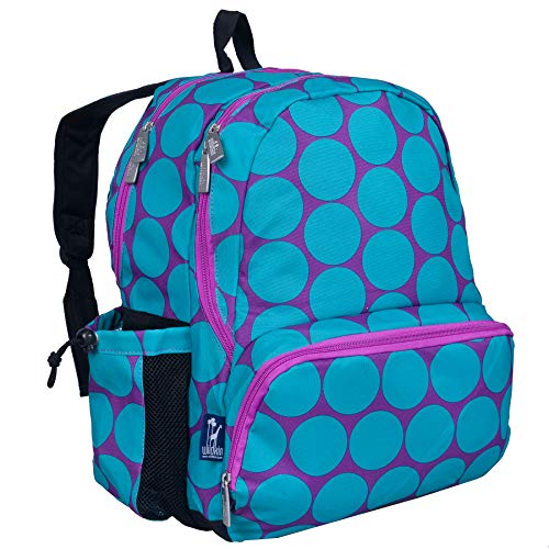 Wildkin 17 Inch Kids Backpack for Boys & Girls, Features Three Zippered Compartment with Interior & Side Pockets Backpacks, Perfect for School & Travel Backpack for Kids, BPA-free (Big Dot Aqua)