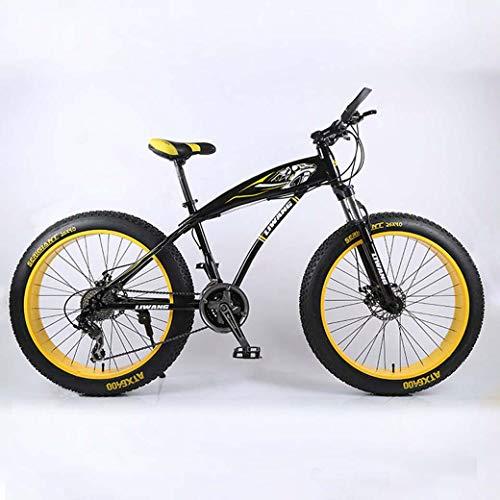 24 '/ 26' 27 de velocidad de bicicletas de montaña, Noria moto de nieve, doble freno de disco, fuerte con amortiguador delantero Tenedor, al aire libre fuera de la carretera bici de la playa,B,24 inch