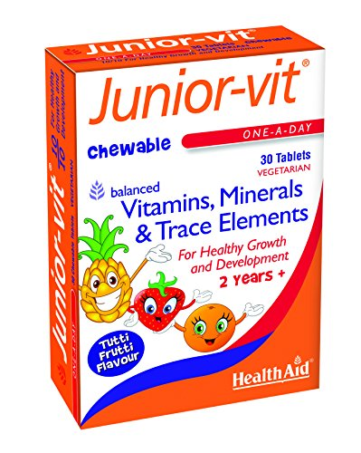 HealthAid Junior-Vit Chewable Multivitamins, 30 Vegetarian Tablets
