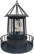 LED Solar Light Powered Rotating Lighthouse Beacon Lamp, Outdoor Courtyard Waterproof Solar Hanging Lamp, Lawn Lantern, fo...