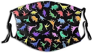 Fun Dinosaur Pattern Face Mask,Comfortable Balaclavas Reusable Bandana Adjustable Scarf For Adult (With 2 Filters)