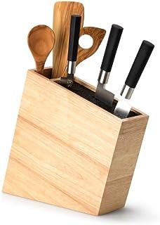 Continenta 3317Accessoires de Cuisine Bloc de couteaux avec insertion Flexible Y Compris Ustensiles Poubelle, Marron clair