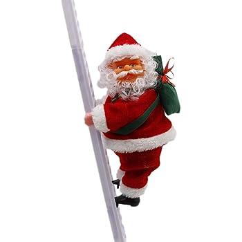 Juguete de Papá Noel Eléctrico,Muñeca Santa Claus Escalador Música Eléctrica Cuerdas de Escalada Santa Claus para Colgar en la Ventana,Regalo para bebé,cumpleaños, Navidad,Juguetes para niños: Amazon.es: Hogar