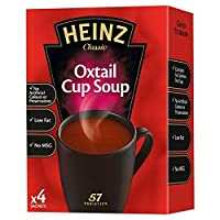 ハインツオックステールドライカップスープ62グラム (x 4) - Heinz Oxtail Dry Cup Soup 62g (Pack of 4) [並行輸入品]