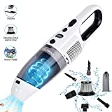 Handheld Cordless Vacuum Cleaner, FUJIWAY 7500PA Strong Suction Wet Dry Use Portable Rechargeable Car Vacuum Cleaners with 120W Cyclonic Motor, Hand Held Vac for Home Car Pet Hair And Office Cleaning