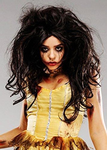 Womens Deluxe Zombie princesse Belle perruque