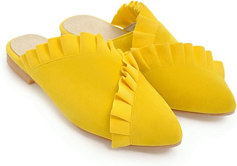 HANBINGPO 2019 Women Slippers Flat Women shoes Slip On Flat Mules Ruffles Fabric Platform Loafer Flip Flop