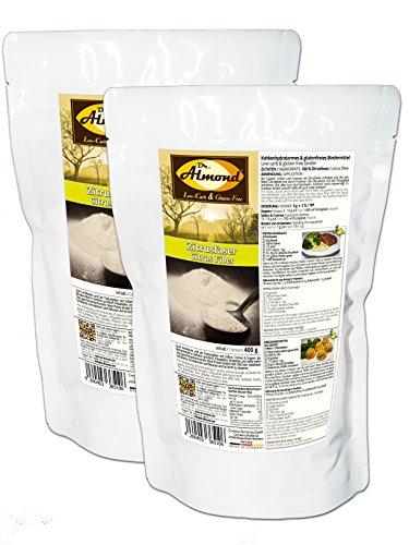 Dr. Almond Zitrusfaser low-carb glutenfrei paleo – Bindemittel Soßenbinder Speisestärke-Ersatz mit 0 % Kohlenhydraten - das revolutionäre neue Bindemittel! (2 x 400 g)