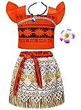 AmzBarley Moana Vaiana Disfraz Costume Niña Bebe, Princesa Disfraz...