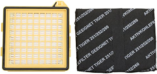 1 Hepa-Filter Mikrofilter   1 Kohlefilter geeignet für Vorwerk Staubsauger Tiger 260 VT 260 VT260