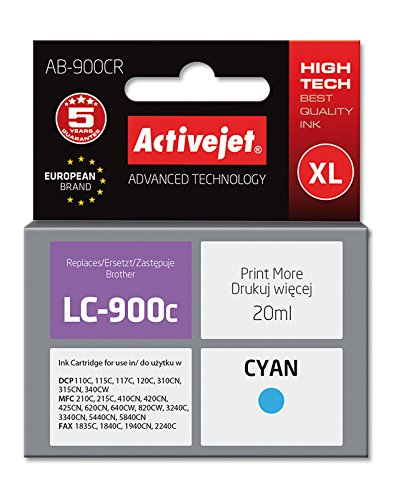ActiveJet EXPACJABR0014 inkt AB-900CR Refill voor Brother LC900C, cyaan
