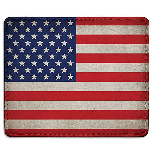 dealzEpic - American Flag Patriotic Mousepad - Mouse Pad Printed with Vintage Grunge Style Flag of The USA