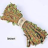 HHTC 5M cuerda del cáñamo de la hoja verde de arpillera de yute Cuerda de la arpillera de yute ficelle envoltorio Cordel Cuerda de cáñamo yute decoración DIY for las embarcaciones de paquete de regalo