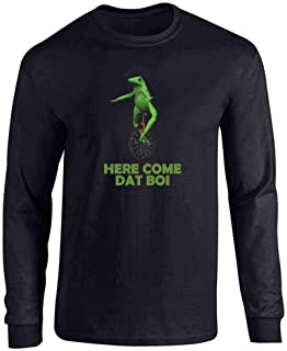 Here Come Dat Boi Meme Frog Funny Unicycle Full Long Sleeve Tee T-Shirt