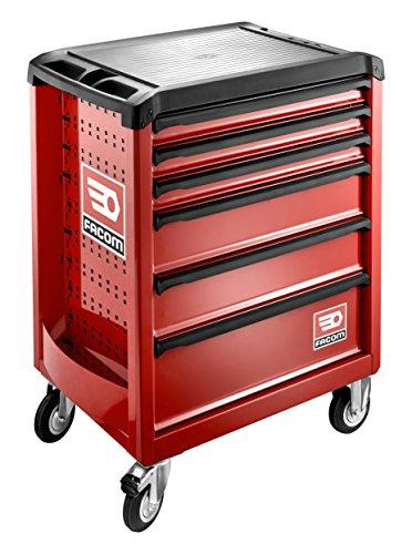 Facom Werkstattwagen mit Lenkrolle Roll 6 M3, ohne Werkzeuge, Farbe: Rot