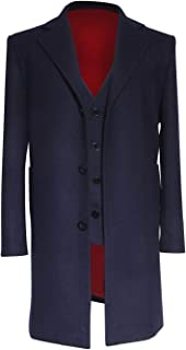 Wolfbar 12th Dr Dark Blue Frock Coat Vest Set Halloween Cosplay Costume