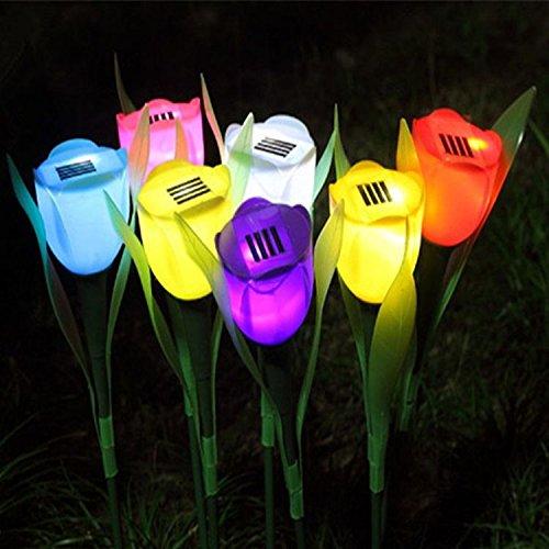Solaire Mosaïque Lampes Solaire LED Magique Soleil Couleur De La Balle Changement Adorable Veilleuses Eclairage Lampes De Fête,Résistant aux intempéries Verre En Cristal Globe Boule,Best