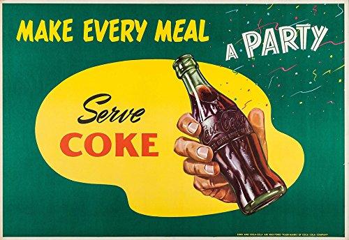 Vintage Coca-Cola 1950s Ad Replica 13x19 pulgadas impresión