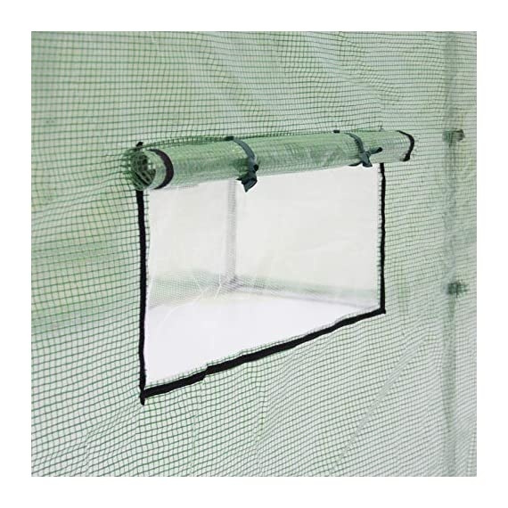 Best Choice Products 15x7x7ft Walk-in Greenhouse Tunnel Tent Gardening Accessory w/Roll-Up Windows, Zippered Door, Green 2 PROTECTION FROM THE ELEMENTS: Consolidate all of your plants in a single, protected area that helps you to grow and manage plants year-round and shield fruits, vegetables, and flowers from harsh elements PLANT VARIETY: Helps you to grow a wider variety of plants that may not be native to your community through a warmer, more humid environment that promotes the growth of warm season and climate plants HEAT AND LIGHT MANAGEMENT: Zippered door and 8 roll-up windows with screens help to manage the amount of heat and light that enter the greenhouse to control your gardening experience