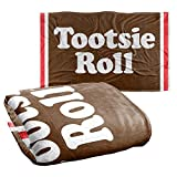 Trevco Tootsie Roll Wrapper Silky Touch Super Soft Throw Blanket 36' x 58'