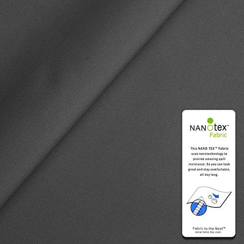 www.aktivstoffe.de (11,99€/m) Marathon - Tessuto Microfibra Nanotex - traspirabile, Impermeabile al Agua & al Vento - Stoffa al Metro (Grigio Scuro)