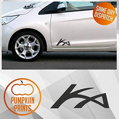 X2 Ford Ka zijdeur logo vinyl Sticker Decal Bumper venster spoiler Straat KA