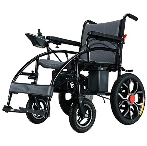 OPRG Lightweight Lntelligent Folding Carry Adult Electric Wheelchairs,power Chairs For Disabled With Joystick,dual Function Heavy Duty Power Wheelchair,electric Power Or Manual Wheelchair