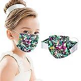 50 piezas de protector dental para niños y niñas, turbante con estampado de graffiti no reutilizable, bufanda, herramienta protectora para exteriores, cubierta protectora para la boca y la nariz