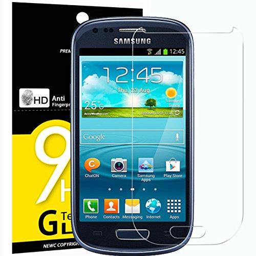 NEW'C 3 Stück, Schutzfolie Panzerglas für Samsung Galaxy S3 Mini, Frei von Kratzern, 9H Festigkeit, HD Bildschirmschutzfolie, 0.33mm Ultra-klar, Ultrawiderstandsfähig