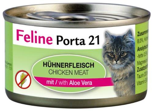 Feline Porta Katzenfutter Feline Porta 21 Huhn plus Aloe 90 g, 12er Pack (12 x 90 g)