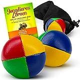 BRIMBAO - Jonglierbälle Anfänger und Profi [Extra starke Nähte] - 3 Stk Jonglierbälle Kinder Anfänger + Ebook zum jonglieren lernen - Jonglierbälle Profi - juggling balls - Jonglierball jonglage