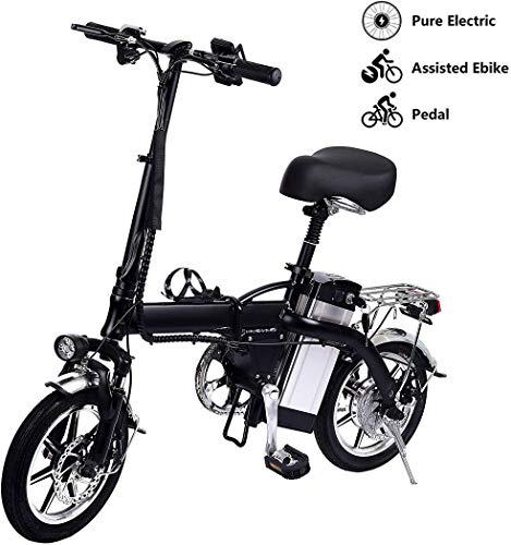 ZYHLL Folding Elektro-Fahrrad mit 250W Brushless Motor Doppelscheibenbremse DREI Modi Bis zu 35 km/H Maximale 100KM Distance Running City Electric Bikes für Commuting,80km