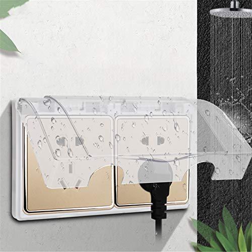 Tipo 86 Caja a prueba de salpicaduras Adhesivo Transparente Enchufe Cubierta Protectora Interruptor