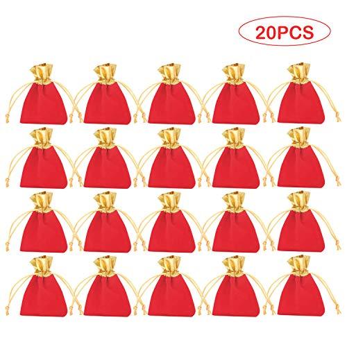 20 STKS Mode Elegante Fluwelen Sieraden Gift Tasje Zakken voor Munten Kettingen Armbanden Oorbellen Candy Party Favor 10x12 cm Stijl E