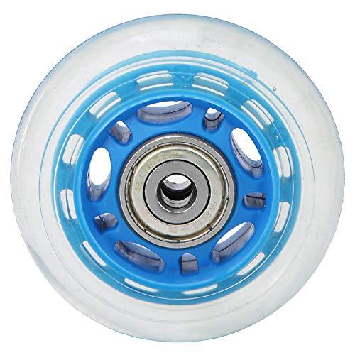 Universal Wheel 2.5in Transparent Mute Casters Wheel with Bearing Luggage Cart Skates Silent Wheels Sliding Skating Roller Wheel