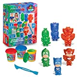 Cra-Z-Art PJ Masks Softee Dough 3D Maker Action Figure Mold N Play, Red, Blue, Green