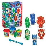 Cra-Z-Art PJ Masks Softee Dough 3D Maker Action Figure Mold N Play, Red, Blue, Green