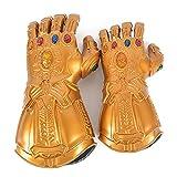 Guantelete del infinitom, Marvel Avengers Guante Thanos con 6 LED Gemas Cosplay Halloween Prop Guantelete Gemas del Infinito, con Efectos Luminosos Adulto/Niño Adult
