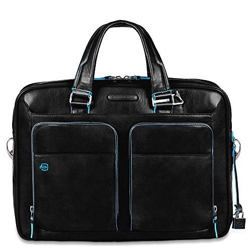 Piquadro Mallette pour Ordinateur Portable avec Compartiment pour iPad, Noir (Noir) - CA2849B2/N