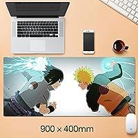 NARUTO大型マウスパッドの折りたたみ式マウスパッドファッションゲーミングマウスパッドコンピュータのラップトップデスクトップラップトップキーボードコンソール(15.75 x 35.45インチ)-A2_300 * 600 * 3mm