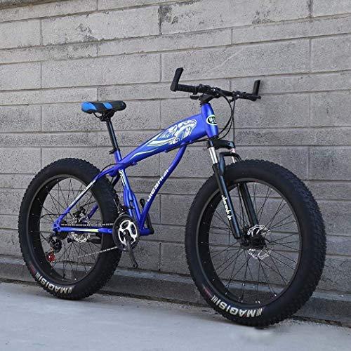 Bicicleta de montaña para Deportes al Aire Libre, Bicicleta de Nieve con Ruedas Grandes de 24'/ 26', Freno de Disco Doble de 21 velocidades, Horquilla Delantera Que Absorbe los Golpes Fuertes, bicicl
